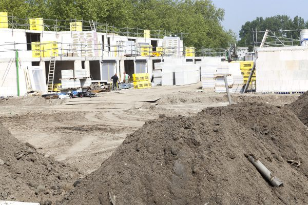 Bouw in volle gang